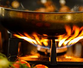 pot on a stove